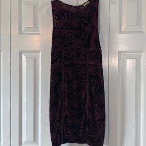Free People purple velvet paisley dress